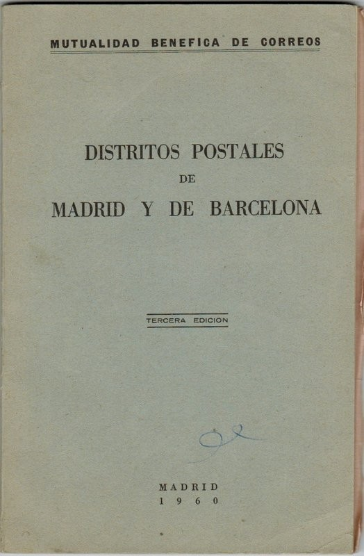 Distritos postales de Madrid y de Barcelona