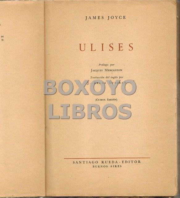 Ulises. Prólogo por Jacques Mercanton. Traducción del inglés por J. Salas Subirat