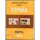 Catálogo unificado de España y dependencias postales. Tomo I. 1984