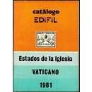 Catálogo EDIFIL Estados de la Iglesia. Vaticano. 1981