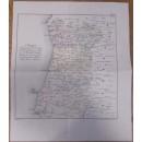 Mappa do terreno que no anno de 1810 se destinou á defeza de Portugal comprehendiendo as provincias de Extremadura, Beira Alta, Beira Baxa. Grabado de Carvalho