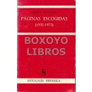 Páginas escogidas (1932-1973)