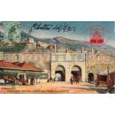 Tarjeta postal. Gibraltar. Entrance to the town and Moorish Castle (Entrada a la ciudad y Castillo de los moros)