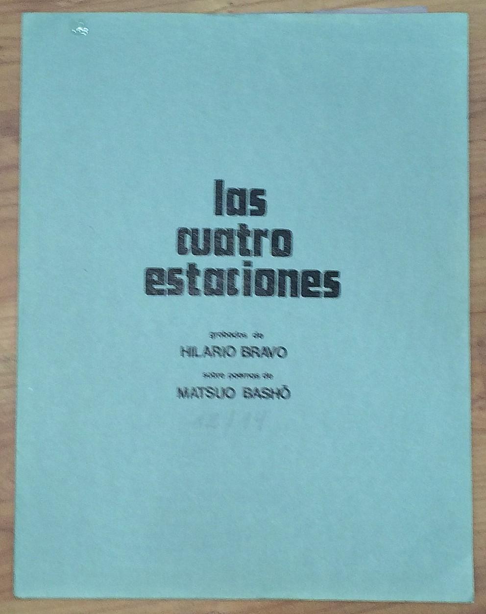 Las cuatro estaciones. Grabados de Hilario Bravo sobre poemas de Matsuo Bashó