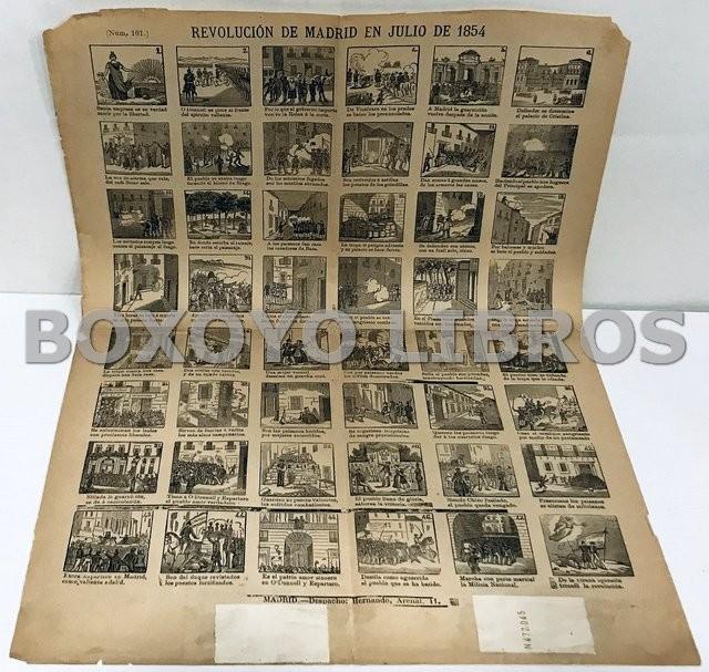 Revolución en Madrid en Julio de 1854. Aleluya Auca núm. 101