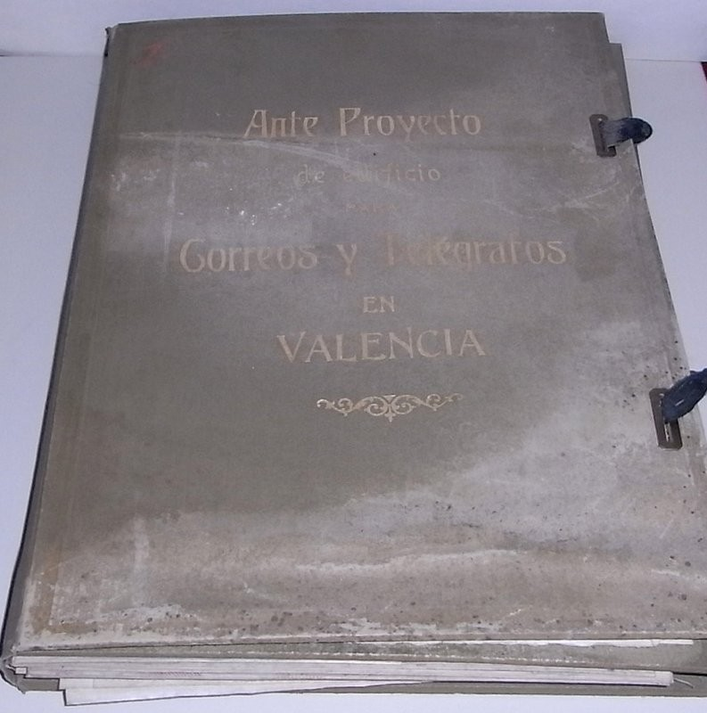 Ante Proyecto de edificio para Correos y Telégrafos en la ciudad de Valencia
