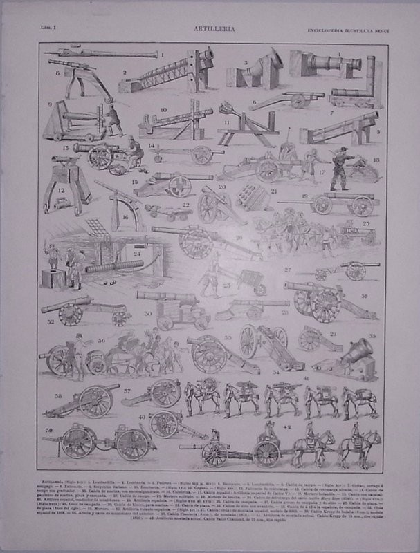 Enciclopedia ilustrada Segui. Artillería