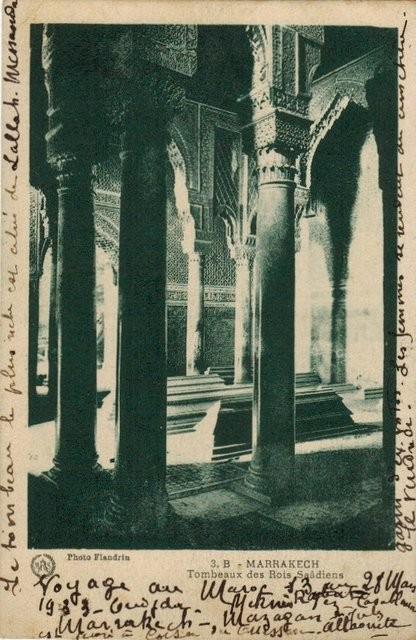 Tarjeta Postal. 3. B - Marrakech. Tombeaux des Rois Saâdiens