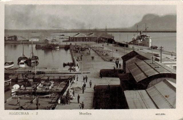 Tarjeta Postal. Algeciras - 2 Muelles
