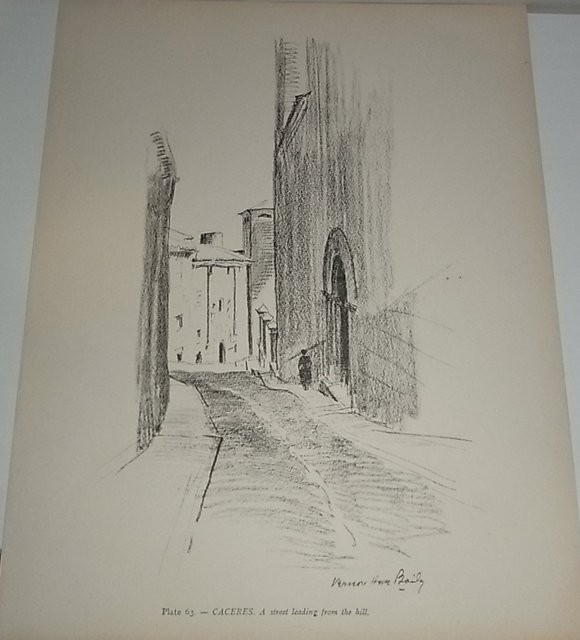 Plate 63.- Caceres. A street leading from the hill