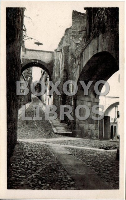 Tarjeta Postal. Cáceres. Arco de la Estrella. Edic. Blasco