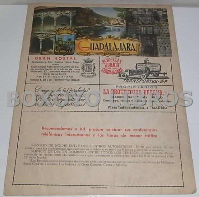 Mapa de la provincia de Guadalajara. Anuario Telefónico de la Compañía Telefónica Nacional de España (CTNE)