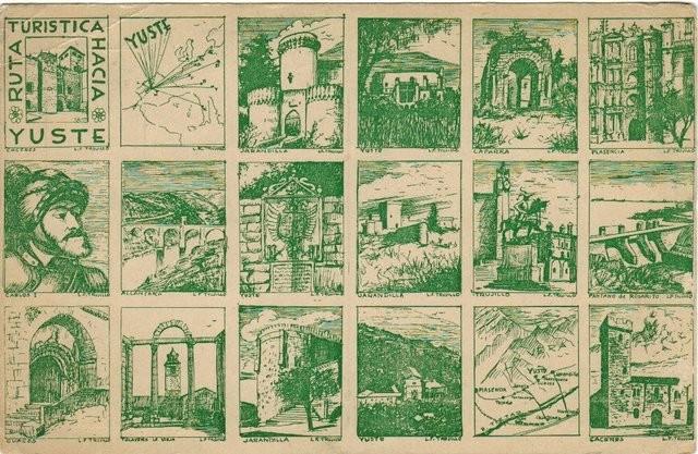 Tarjeta postal Ruta turística hacia Yuste