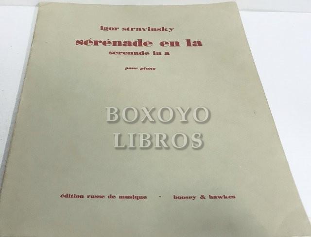 Sérénade en La/ Serenade in A en quatre mouvements pour piano