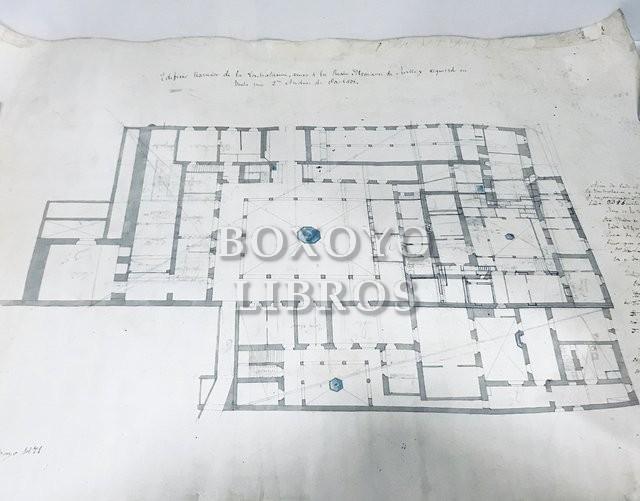Plano del Edificio llamado de la Contratación, anexo a los Reales Alcázares de Sevilla