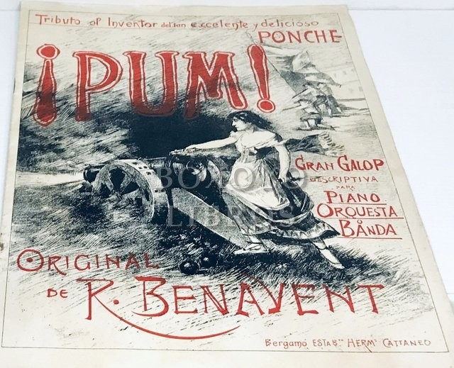 ¡Pum!: gran galop descriptiva para piano, orquesta o banda / original de R. Benavent