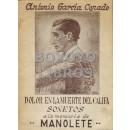 """Dolor en la muerte del califa. Sonetos a la memoria de Manuel Rodríguez Manolete"""""""""""