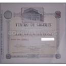 Acción nominal. Teatro de Cáceres Sociedad Anónima, constituida para la construcción y explotación de un Teatro en Cáceres