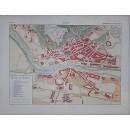 Enciclopedia Ilustrada Seguí. Plano y vistas de la ciudad de Burgos