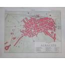 Enciclopedia Ilustrada Seguí. Plano y vistas de la ciudad de Albacete