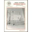 Peña Taurina 'Enfrente Toriles' de Cáceres. Edición especial. nº 0. Mayo 1988