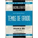 Bachillerato. Guías metodológicas. Temas de grado. Explicación de textos (Grado elemental). Propuestos en 1967