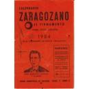 Calendario Zaragozano El Firmamento, para toda España, 1984.