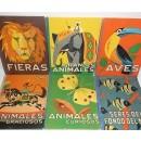 Los animales y sus costumbres. 6 volúmenes: Fieras, Grandes animales, Aves, Seres del fondo del mar, Animales curiosos, Animales graciosos