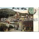 Tarjeta postal. Gibraltar, Casemates and Moorish Castle (Casamatas y Castillo de los moros)