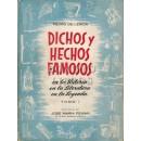 Dichos y hechos famosos en la Historia, en la Literatura, en la Leyenda. Tomo I.  Prólogo de José Mª Pemán
