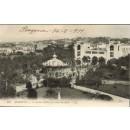 Tarjeta postal. 264. Biarritz. Le Jardin Public et la Gare du Midi. LL.