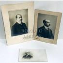 Conjunto de tres fotografías del mismo personaje en Madrid
